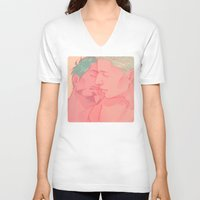 cuddle V-neck T-shirts featuring CUDDLE by FISHNONES