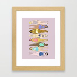 Sunbathers - Retro Female Swimmers Framed Art Print