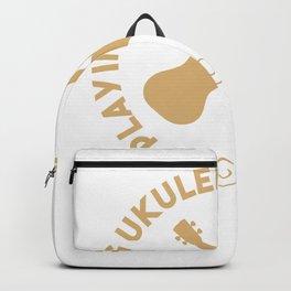 Playing Ukulele Is My Medicine - Ukulele Guitar Backpack