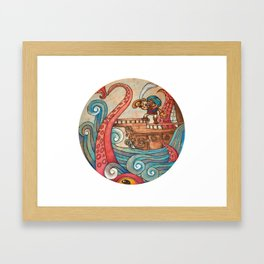 Simbad: Monsters of deep sea. Framed Art Print