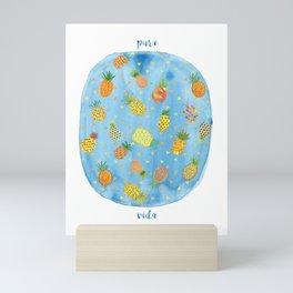 Pineapple Pura Vida Mini Art Print