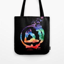 Yoga Studio Black Tote Bag
