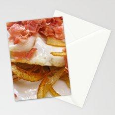 Bacon & Egg Breakfast Stationery Cards