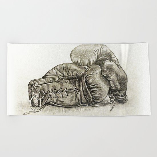 Boxing gloves Beach Towel