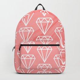 Diamond on marble pattern Backpack