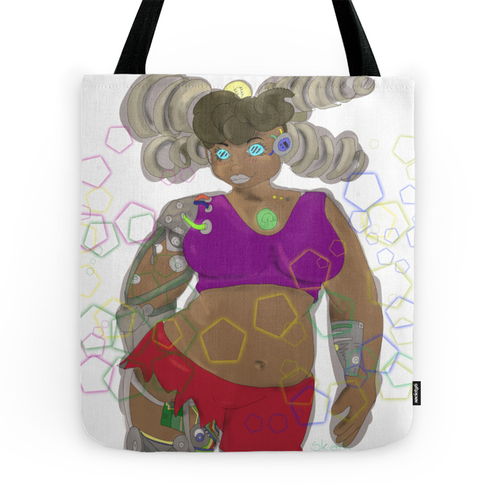 Cyborg Girl Tote Purse by sketchmaster (TBG7413402) photo
