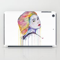 karen iPad Cases featuring Karen Gillan  by Jeremy Buckley illustration