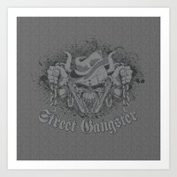 gangster Art Prints featuring Street Gangster by MaNia Creations