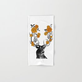 The Stag and Roses | Orange Hand & Bath Towel