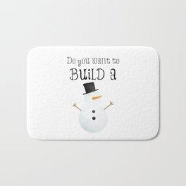 Do You Want To Build A Snowman? Bath Mat
