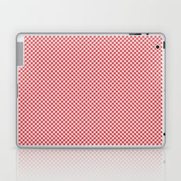 Houndstooth White & Red small Laptop & iPad Skin