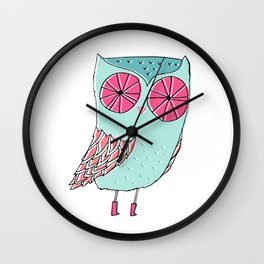 Hoo there! Wall Clock