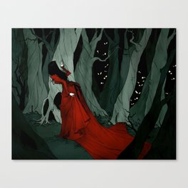 Snow White Lost in the Woods Canvas Print