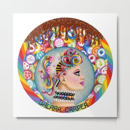 Lady Sweet Tooth Metal Print