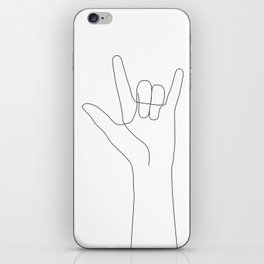 Love Hand Gesture iPhone Skin