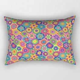 Millefiori-Crayon Colors Rectangular Pillow