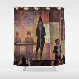 La parade du cirque by Georges Seurat Shower Curtain