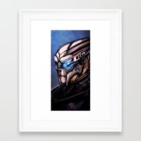 garrus Framed Art Prints featuring Garrus by Vaahlkult