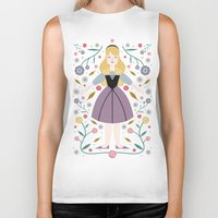 aurora Biker Tanks featuring Aurora by Carly Watts