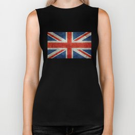 "English Flag ""Union Jack"" bright retro 3:5 Scale Biker Tank"
