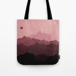 Love Mountain Range Tote Bag