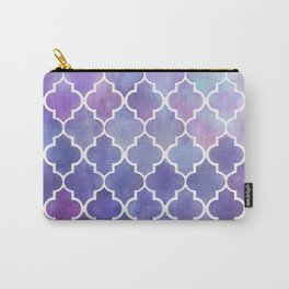Purples & Pinks Watercolor Moroccan Pattern Carry-All Pouch