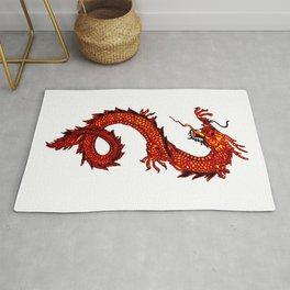 Mythical Red Dragon Rug