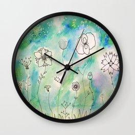 Flower Wonderland Wall Clock