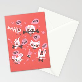 punky pets by unPATO Stationery Cards