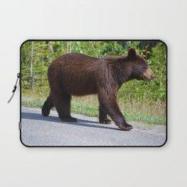 The happiest bear in Jasper National Park Laptop Sleeve