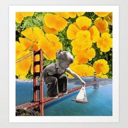 San Fran Sailin' Art Print