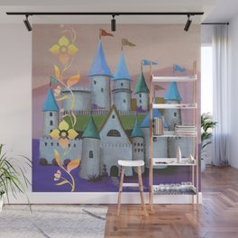 Enchanted Castle after Sunset Wall Mural