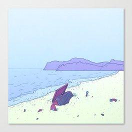 Beach Notes Canvas Print
