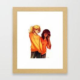 Annabeth and Piper Framed Art Print