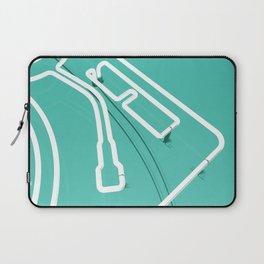 Neon Turntable 3 - 3D Art Laptop Sleeve