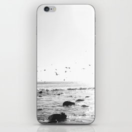 black and white big sur iPhone Skin