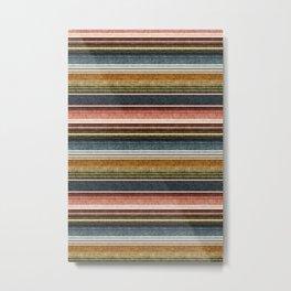 serape southwest stripe - earth tones Metal Print
