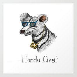 Honda Civet Art Print