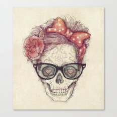 Hipster Girl is Dead Canvas Print