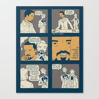 django Canvas Prints featuring Django by Derek Eads