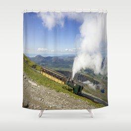 Steam Train To Snowdon Shower Curtain