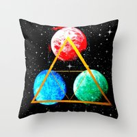 triforce Throw Pillows featuring Triforce by AbstractAnomaly