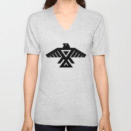 Native American Thunderbird Symbol Flag Unisex V-Neck