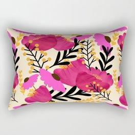 Vibrant Floral Wallpaper Rectangular Pillow