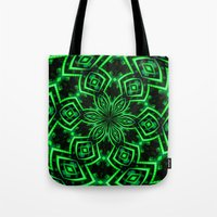 rave Tote Bags featuring Rave Explosive by Julie Maxwell
