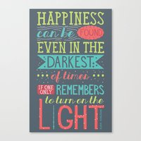 happiness Canvas Prints featuring Happiness by Dorothy Leigh
