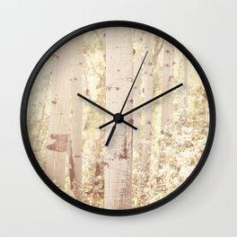 Dreamy Aspen Forest Wall Clock