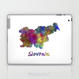 Slovenia in watercolor Laptop & iPad Skin