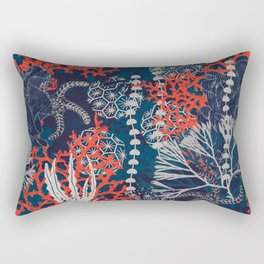 Corals and Starfish Rectangular Pillow