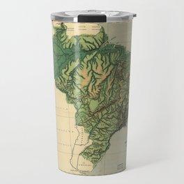 Physical Map of Brazil (1886) Travel Mug